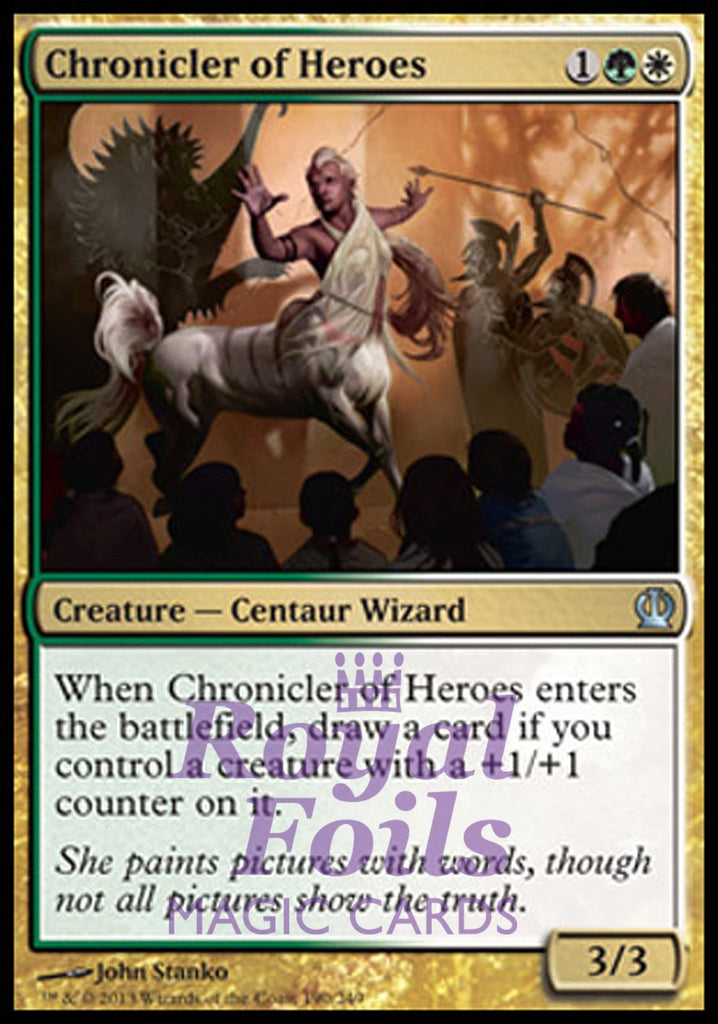 **4x FOIL Chronicler of Heroes** THS MTG Theros Uncommon MINT green white