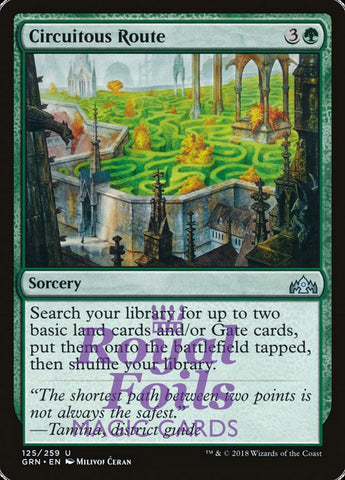 **1x FOIL Circuitous Route** GRN MTG Guilds of Ravnica Uncommon MINT green