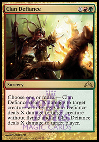 **1x FOIL Clan Defiance** GTC MTG Gatecrash Rare MINT red green