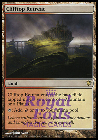 **1x FOIL Clifftop Retreat** ISD MTG Innistrad Rare MINT red white land