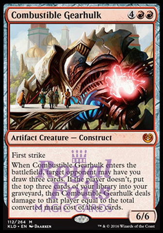 **1x FOIL Combustible Gearhulk** KLD MTG Kaladesh Mythic MINT red artifact