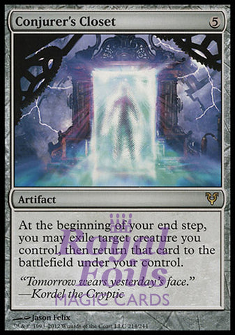 **1x FOIL Conjurer's Closet** AVR MTG Avacyn Restored Rare MINT artifact