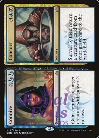 **1x FOIL Connive // Concoct** GRN MTG Guilds of Ravnica Rare MINT blue black
