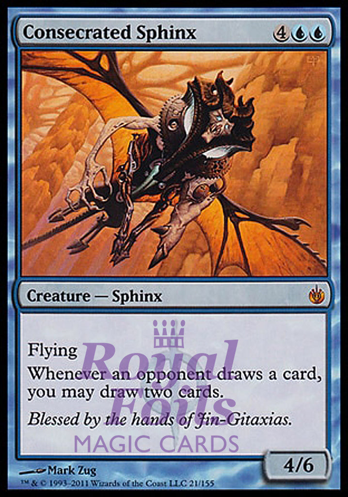 **1x FOIL Consecrated Sphinx** MBS MTG Mirrodin Besieged Mythic MINT blue