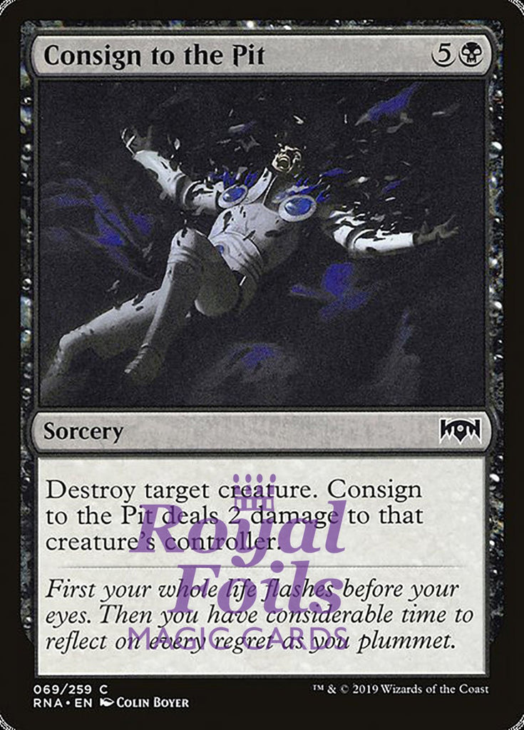 **2x FOIL Consign to the Pit** RNA MTG Ravnica Allegiance Common MINT black