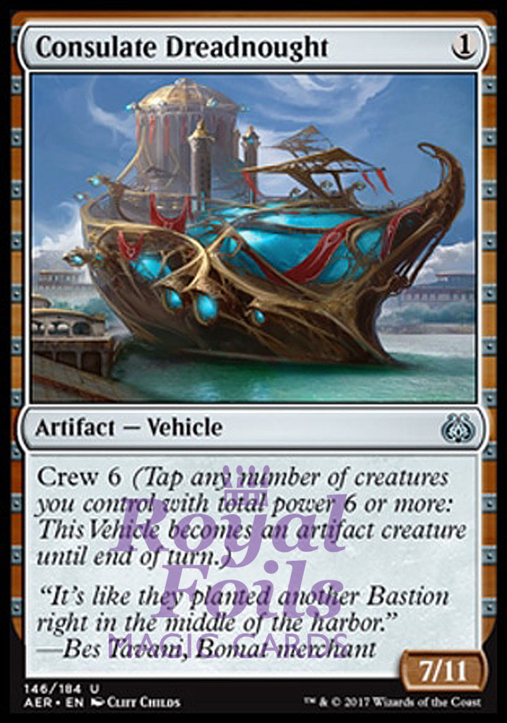 **1x FOIL Consulate Dreadnought** AER MTG Aether Revolt Uncommon MINT artifact