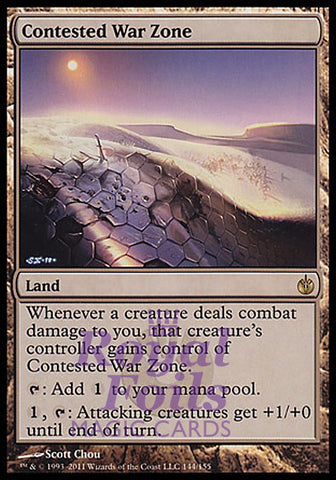 **1x FOIL Contested War Zone** MBS MTG Mirrodin Besieged Rare NM land
