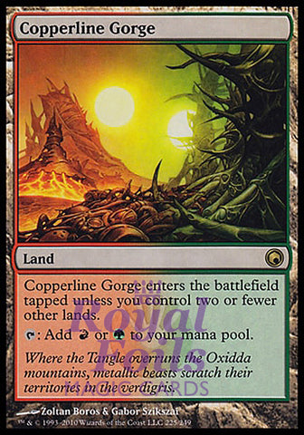 **1x FOIL Copperline Gorge** SOM MTG Scars of Mirrodin Rare MINT red green land