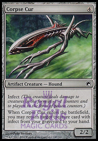 **1x FOIL Corpse Cur** SOM MTG Scars of Mirrodin Common MINT artifact