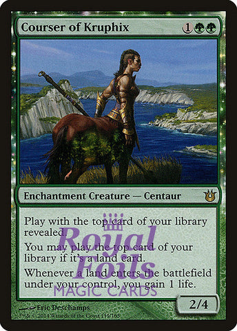 **1x FOIL Courser of Kruphix** BNG MTG Born of the Gods Rare MINT green