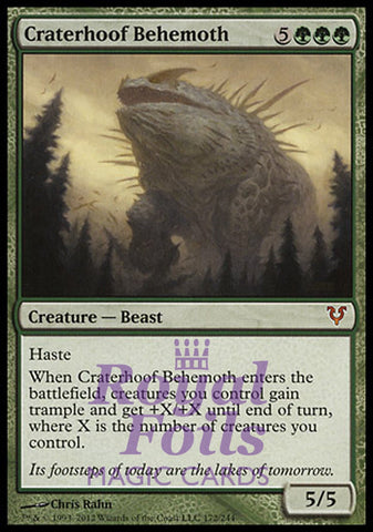**1x FOIL Craterhoof Behemoth** AVR MTG Avacyn Restored Mythic MINT green