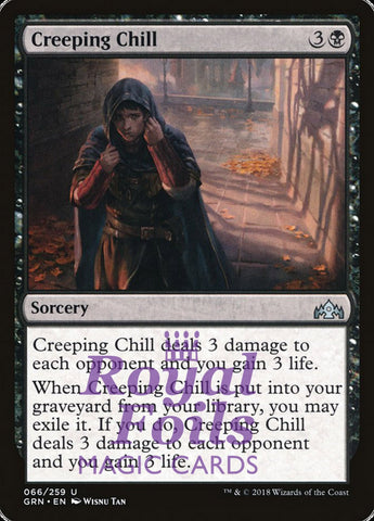 **1x FOIL Creeping Chill** GRN MTG Guilds of Ravnica Uncommon MINT black