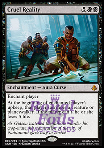 **1x FOIL Cruel Reality** AKH MTG Amonkhet Mythic MINT black