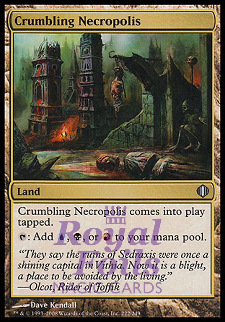 **1x FOIL Crumbling Necropolis** ALA MTG Shards of Alara Uncommon MINT blue black red land
