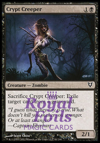 **6x FOIL Crypt Creeper** AVR MTG Avacyn Restored Common VF black