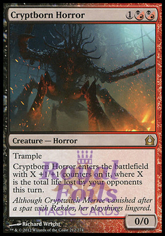 **1x FOIL Cryptborn Horror** RTR MTG Return to Ravnica Rare MINT red black