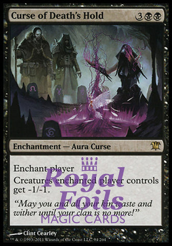 **1x FOIL Curse of Death's Hold** ISD MTG Innistrad Rare MINT black