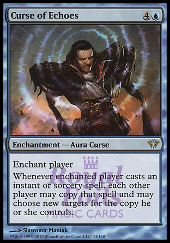 **1x FOIL Curse of Echoes** DKA MTG Dark Ascension Rare MINT blue
