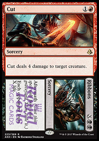 **1x FOIL Cut // Ribbons** AKH MTG Amonkhet Rare MINT red black