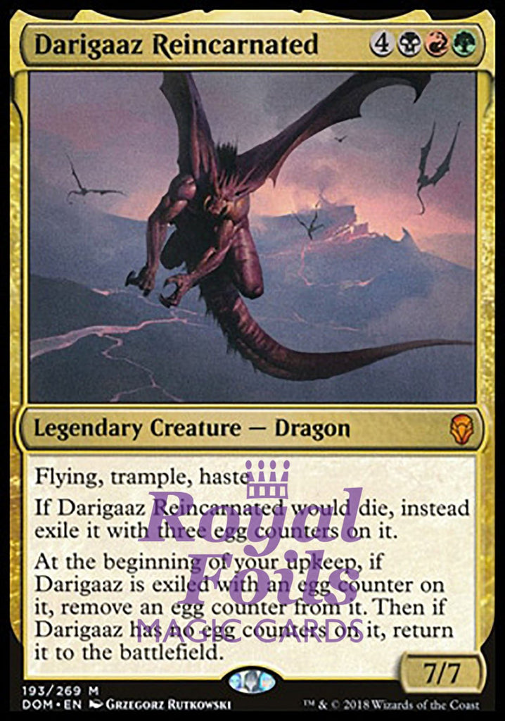 **1x FOIL Darigaaz Reincarnated** DOM MTG Dominaria Mythic MINT  black red green