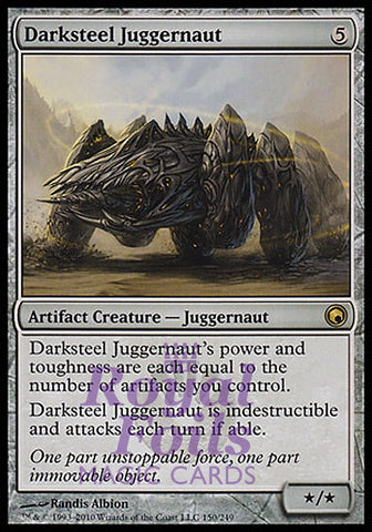 **1x FOIL Darksteel Juggernaut** SOM MTG Scars of Mirrodin Rare NM artifact