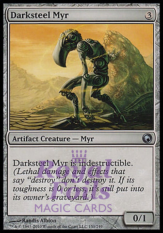 **1x FOIL Darksteel Myr** SOM MTG Scars of Mirrodin Uncommon MINT artifact
