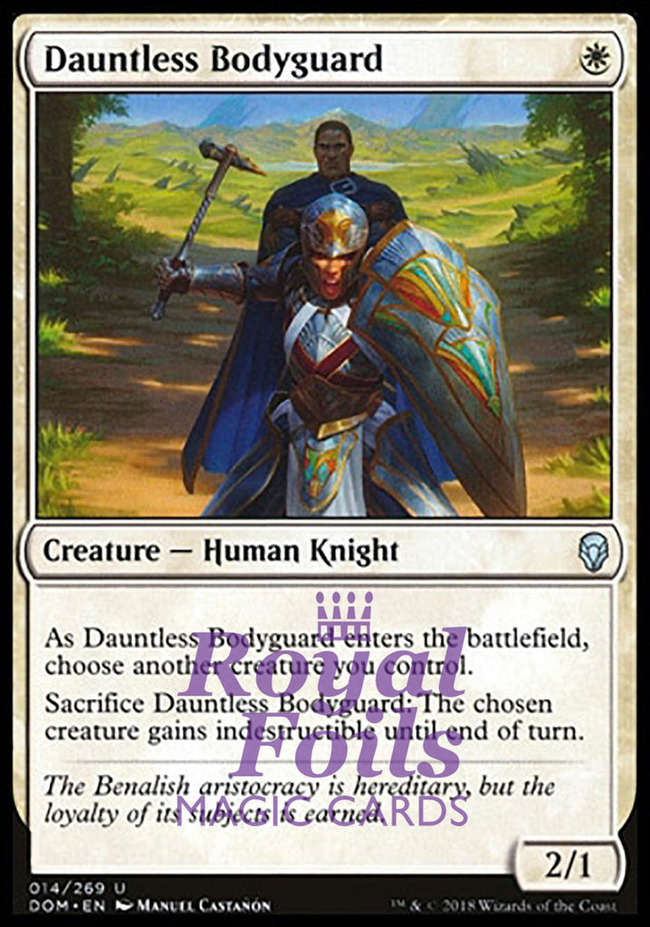 1x foil dauntless bodyguard from the dominaria mtg set
