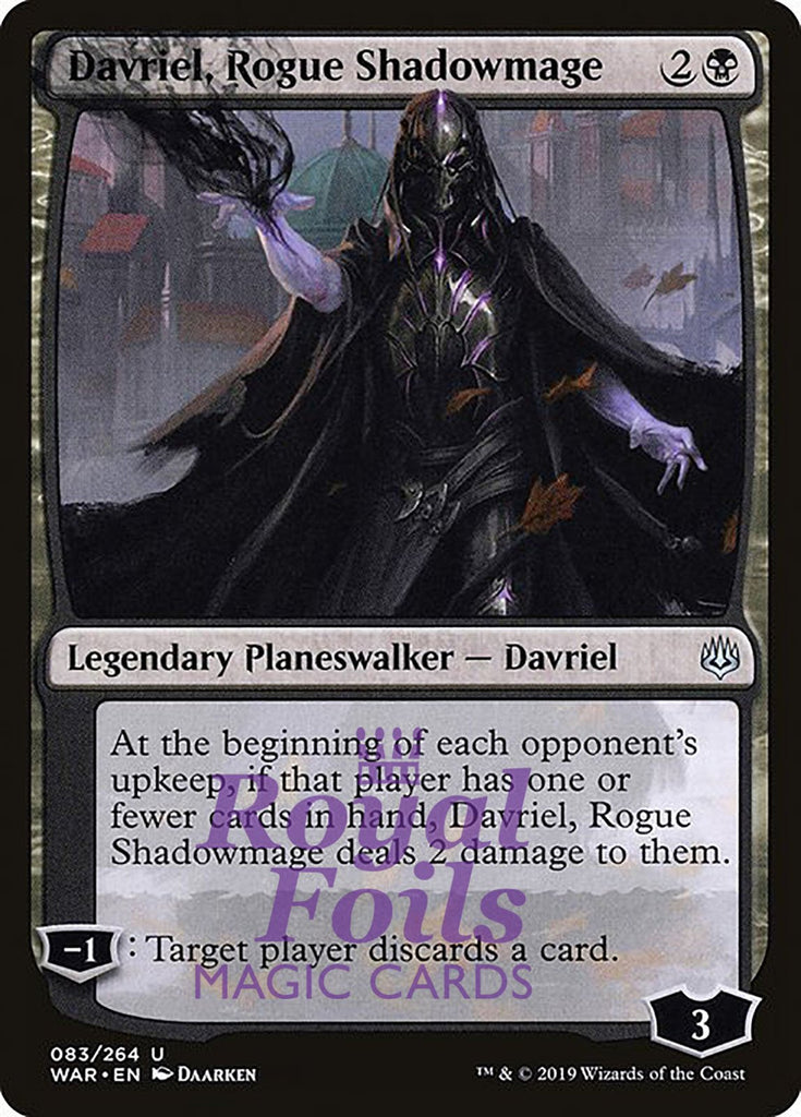 **1x FOIL Davriel, Rogue Shadowmage** WAR MTG War of the Spark Uncommon MINT black