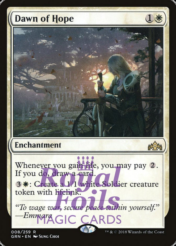 **1x FOIL Dawn of Hope** GRN MTG Guilds of Ravnica Rare MINT white