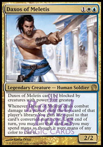 **1x FOIL Daxos of Meletis** THS MTG Theros Rare MINT white blue