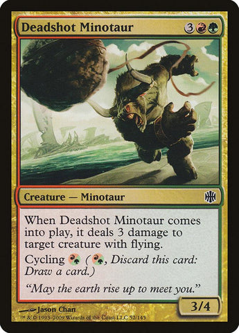 **1x FOIL Deadshot Minotaur** ARB MTG Alara Reborn Common MINT red green