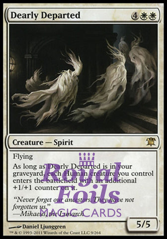 **1x FOIL Dearly Departed** ISD MTG Innistrad Rare MINT white