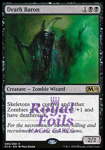 **1x FOIL Death Baron** M19 MTG Core Set 2019 Rare MINT black
