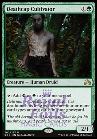 **1x FOIL Deathcap Cultivator** SOI MTG Shadows Over Innistrad Rare MINT black green