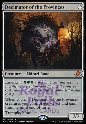 **1x FOIL Decimator of the Provinces** EMN MTG Eldritch Moon Mythic MINT colorless