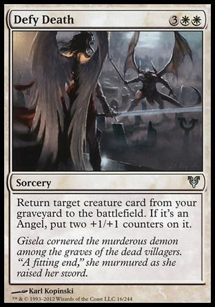 **1x FOIL Defy Death** AVR MTG Avacyn Restored Uncommon MINT white