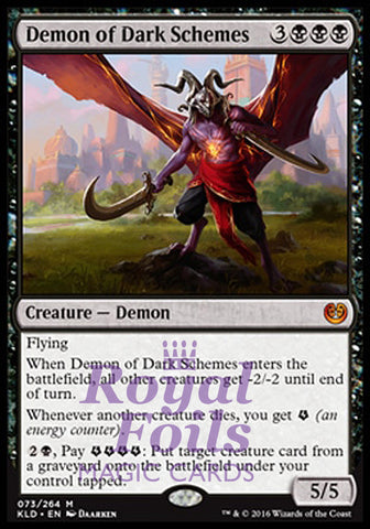 **1x FOIL Demon of Dark Schemes** KLD MTG Kaladesh Mythic MINT black