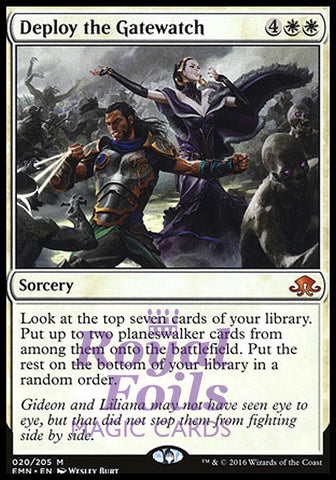 **1x FOIL Deploy the Gatewatch** EMN MTG Eldritch Moon Mythic MINT white