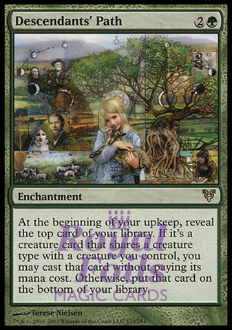**1x FOIL Descendants' Path** AVR MTG Avacyn Restored Rare MINT green