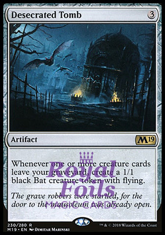 **1x FOIL Desecrated Tomb** M19 MTG Core Set 2019 Rare MINT artifact