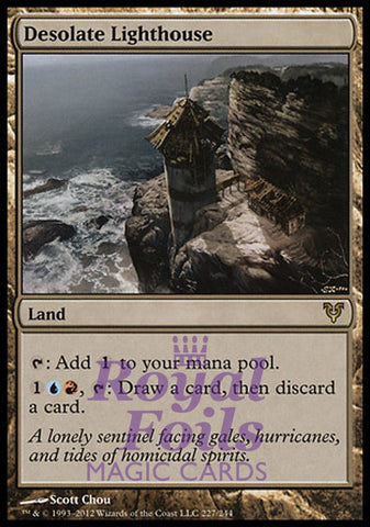 **1x FOIL Desolate Lighthouse** AVR MTG Avacyn Restored Rare MINT blue red land