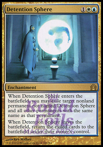 **1x FOIL Detention Sphere** RTR MTG Return to Ravnica Rare MINT white blue