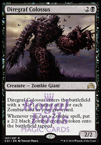 **1x FOIL Diregraf Colossus** SOI MTG Shadows Over Innistrad Rare MINT black