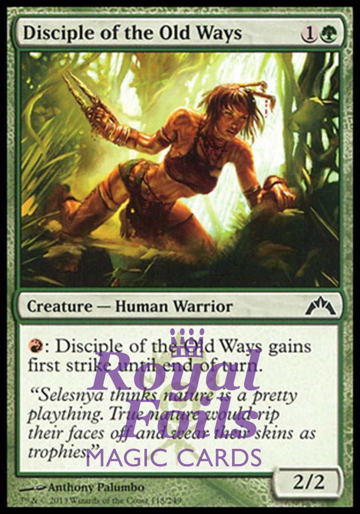 **4x FOIL Disciple of the Old Ways** GTC MTG Gatecrash Common MINT green