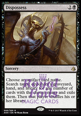 **1x FOIL Dispossess** AKH MTG Amonkhet Rare MINT black