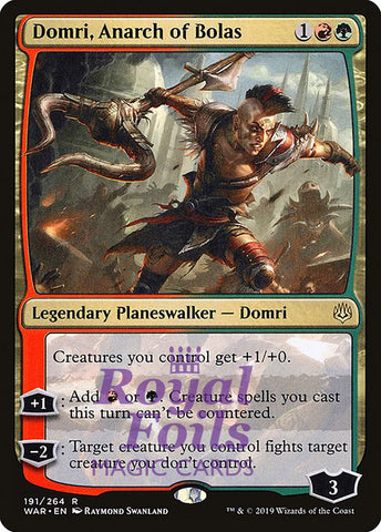 **1x FOIL Domri, Anarch of Bolas** WAR MTG War of the Spark Rare MINT red green