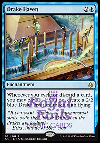 **1x FOIL Drake Haven** AKH MTG Amonkhet Rare MINT blue
