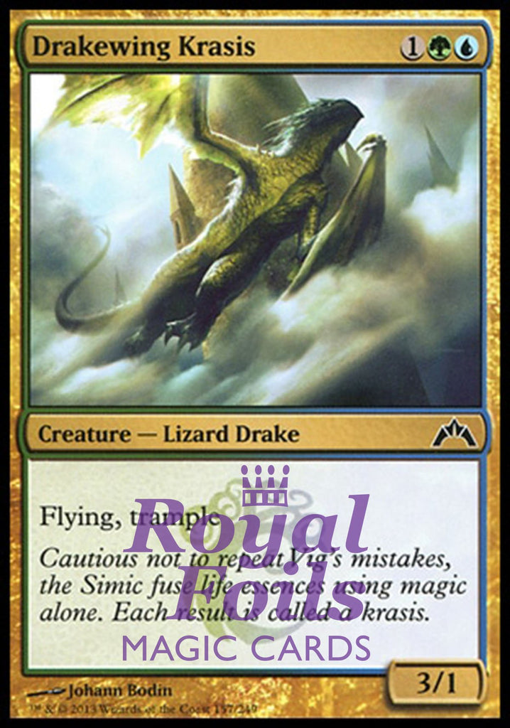 **4x FOIL Drakewing Krasis** GTC MTG Gatecrash Common MINT blue green