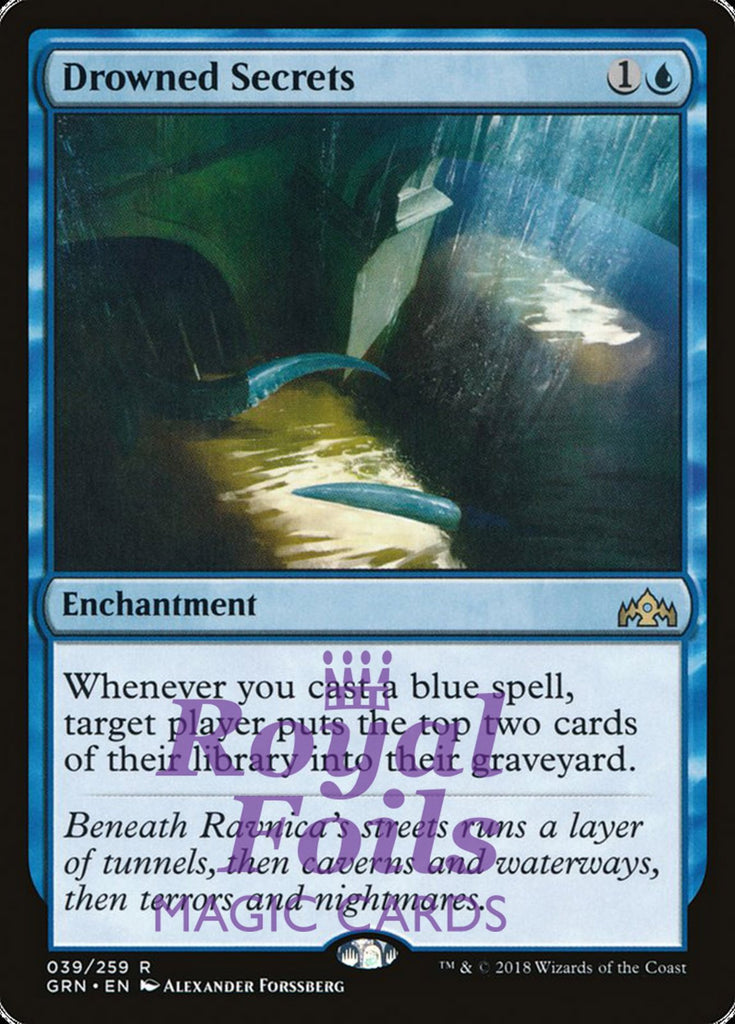 **1x FOIL Drowned Secrets** GRN MTG Guilds of Ravnica Rare MINT blue