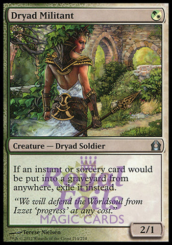 **1x FOIL Dryad Militant** RTR MTG Return to Ravnica Uncommon MINT green white